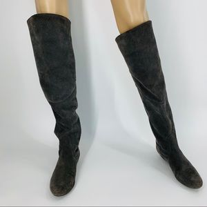 White Mountain Gray Over the Knee Boot